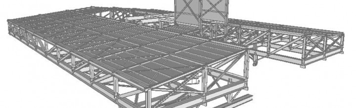 GmasP designed the metallic roof for the biggest vertical cement mill ever built.