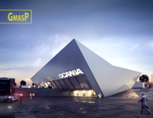 Showroom and offices for Scania