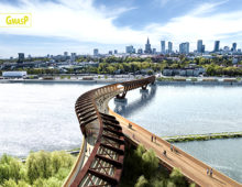 Competition: Pedestrian and cyclist bridge over the Vistula River in Warsaw, Poland