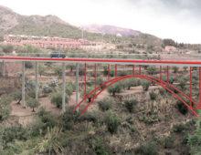 Puente sobre el Barranco del Cint en Alcoy, España